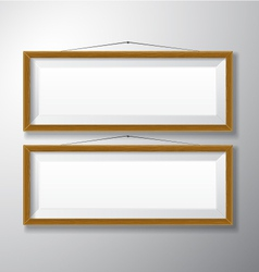 Picture Frames Wooden Horizontal vector image