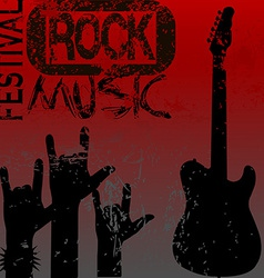 Rock music festival template vector image