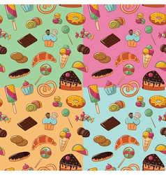 Sweets patterns vector image vector image
