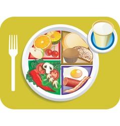 breakfast items vector image