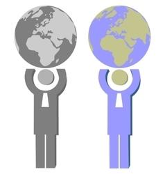 Earth globe set 006 vector image