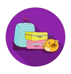 Luggage icon in flat style isolated on white vector image vector image