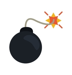 security system concept bomb icon vector image