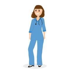 Doctor pediatrician in hospital flat design vector