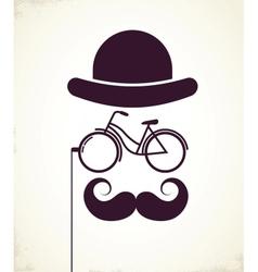 Gentlemen with Bicycle eyeglass vector image vector image