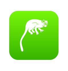 Marmoset monkey icon digital green vector