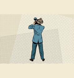 retro photo journalist paparazzi vector image