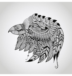 tattoo black hand drawn highly detailed eagle vector image