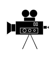 video cinema camera vintage icon vector image