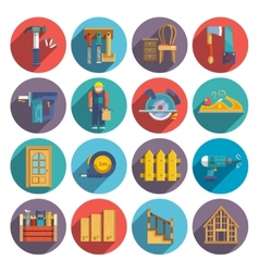 Carpentry icons flat vector image
