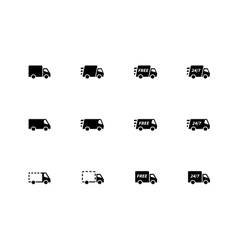 Delivery Trucks icons on white background vector image