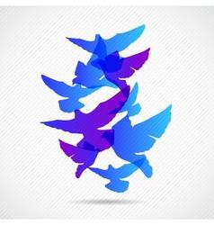 pigeons design background vector image vector image