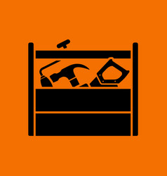 Retro tool box icon vector