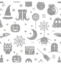 Seamless halloween silver textured pattern vector