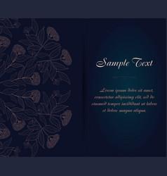 vintage business card ornamental flower vector image