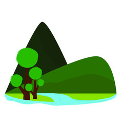 Abstract cute landscape vector