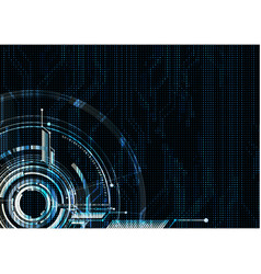 Abstract technological futuristic interface vector