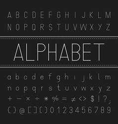 Alphabet Font Design Thin vector