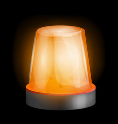 attention siren icon realistic style vector image