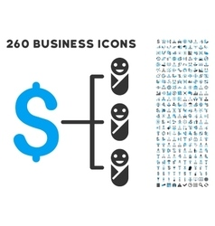 Baby Budget Icon with Flat Set vector