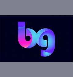 Bg b g spink blue gradient alphabet letter vector