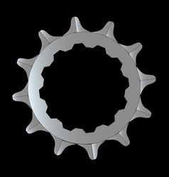 Bike rear cog vector