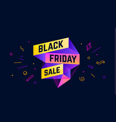 black friday sale 3d sale banner with text vector image