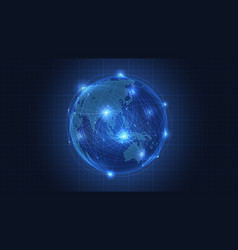 business concept of global network connection vector image