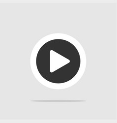 button play play button icon for web site play vector image