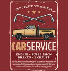 car service and garage retro vector image