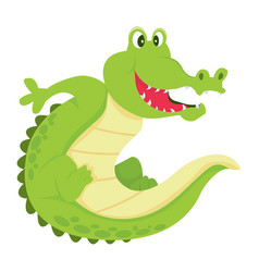 Cartoon alligator vector