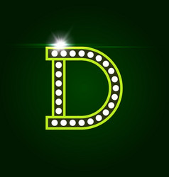 Casino and resort letter d luxury letter vector