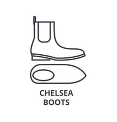 chelsea boots line icon outline sign linear vector image