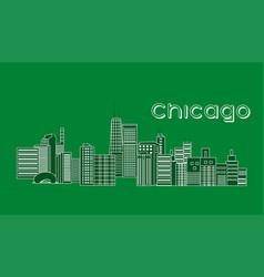 Chicago landscape green vector