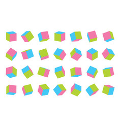children multi colored cubes set isolated on vector image