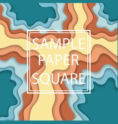 color paper cut wallpaper vector image