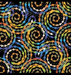 colorful spirals seamless pattern ornamental vector image
