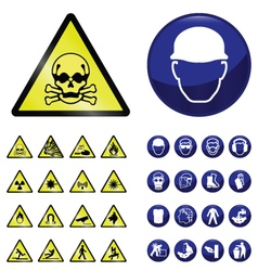 Construction and hazard signs vector image