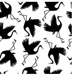 Crane birds vector