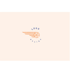 Development creative geometric bright logo flying vector