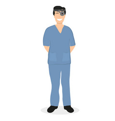 Doctor man ent hospital flat design vector