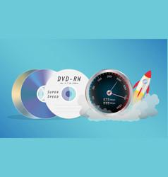 Dvd disk with speed meter vector