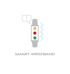 electronic device smart wristband tracker vector image