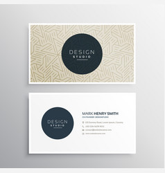 Elegant business company visiting card template vector