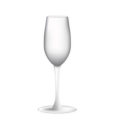empty wine glass on white background vector image