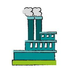 Factory cartoon draw vector
