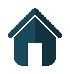 Family House Home icon with door isolated vector