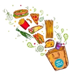 Fast Food Nutritions Concept vector