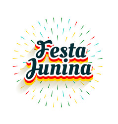 Festa junina celebration background with firework vector