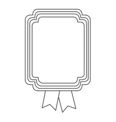 figure square emblem with ribbon icon vector image